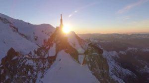 Aerial-Stock-Footage-Aiguille-du-Midi-360-Sunset-Orbit-dark-side-1
